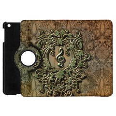 Elegant Clef With Floral Elements On A Background With Damasks Apple iPad Mini Flip 360 Case