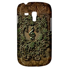 Elegant Clef With Floral Elements On A Background With Damasks Samsung Galaxy S3 MINI I8190 Hardshell Case