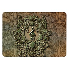 Elegant Clef With Floral Elements On A Background With Damasks Samsung Galaxy Tab 8.9  P7300 Flip Case