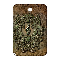Elegant Clef With Floral Elements On A Background With Damasks Samsung Galaxy Note 8.0 N5100 Hardshell Case