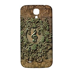 Elegant Clef With Floral Elements On A Background With Damasks Samsung Galaxy S4 I9500/I9505  Hardshell Back Case