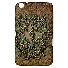 Elegant Clef With Floral Elements On A Background With Damasks Samsung Galaxy Tab 3 (8 ) T3100 Hardshell Case