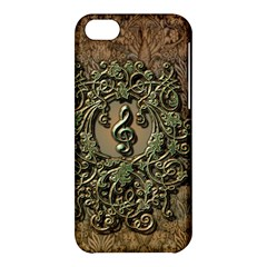 Elegant Clef With Floral Elements On A Background With Damasks Apple iPhone 5C Hardshell Case