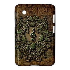 Elegant Clef With Floral Elements On A Background With Damasks Samsung Galaxy Tab 2 (7 ) P3100 Hardshell Case