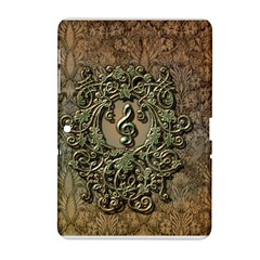 Elegant Clef With Floral Elements On A Background With Damasks Samsung Galaxy Tab 2 (10.1 ) P5100 Hardshell Case