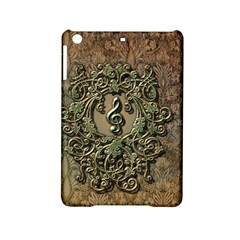 Elegant Clef With Floral Elements On A Background With Damasks Ipad Mini 2 Hardshell Cases