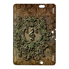 Elegant Clef With Floral Elements On A Background With Damasks Kindle Fire HDX 8.9  Hardshell Case