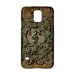 Elegant Clef With Floral Elements On A Background With Damasks Samsung Galaxy S5 Hardshell Case