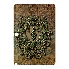Elegant Clef With Floral Elements On A Background With Damasks Samsung Galaxy Tab Pro 10.1 Hardshell Case