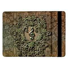 Elegant Clef With Floral Elements On A Background With Damasks Samsung Galaxy Tab Pro 12.2  Flip Case