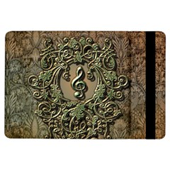 Elegant Clef With Floral Elements On A Background With Damasks iPad Air Flip