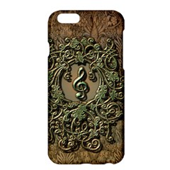 Elegant Clef With Floral Elements On A Background With Damasks Apple iPhone 6/6S Plus Hardshell Case