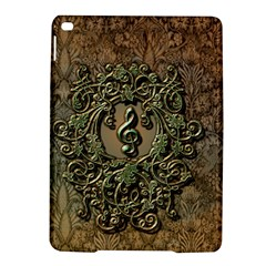 Elegant Clef With Floral Elements On A Background With Damasks iPad Air 2 Hardshell Cases