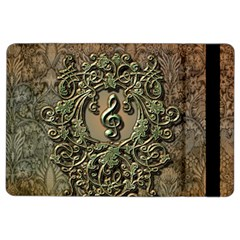 Elegant Clef With Floral Elements On A Background With Damasks Ipad Air 2 Flip