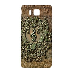 Elegant Clef With Floral Elements On A Background With Damasks Samsung Galaxy Alpha Hardshell Back Case