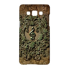 Elegant Clef With Floral Elements On A Background With Damasks Samsung Galaxy A5 Hardshell Case