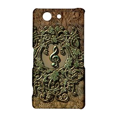 Elegant Clef With Floral Elements On A Background With Damasks Sony Xperia Z3 Compact