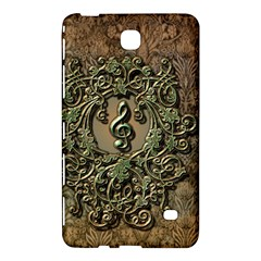 Elegant Clef With Floral Elements On A Background With Damasks Samsung Galaxy Tab 4 (7 ) Hardshell Case