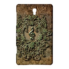 Elegant Clef With Floral Elements On A Background With Damasks Samsung Galaxy Tab S (8 4 ) Hardshell Case