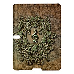 Elegant Clef With Floral Elements On A Background With Damasks Samsung Galaxy Tab S (10.5 ) Hardshell Case