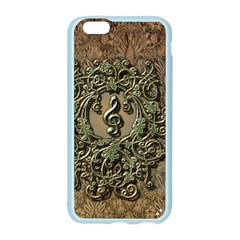 Elegant Clef With Floral Elements On A Background With Damasks Apple Seamless iPhone 6 Case (Color)