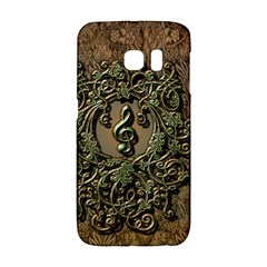 Elegant Clef With Floral Elements On A Background With Damasks Galaxy S6 Edge