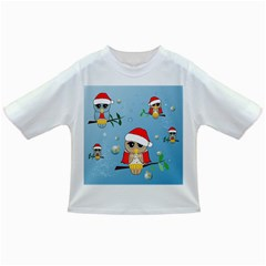 Funny, Cute Christmas Owls With Snowflakes Infant/toddler T Shirts