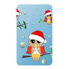 Funny, Cute Christmas Owls With Snowflakes Memory Card Reader