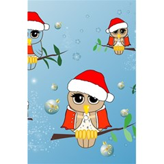 Funny, Cute Christmas Owls With Snowflakes 5.5  x 8.5  Notebooks