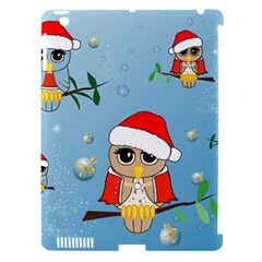 Funny, Cute Christmas Owls With Snowflakes Apple iPad 3/4 Hardshell Case (Compatible with Smart Cover)