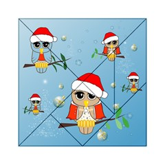 Funny, Cute Christmas Owls With Snowflakes Acrylic Tangram Puzzle (6  X 6 )