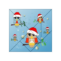 Funny, Cute Christmas Owls With Snowflakes Acrylic Tangram Puzzle (4  X 4 )