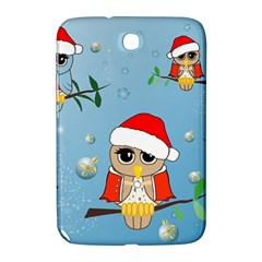 Funny, Cute Christmas Owls With Snowflakes Samsung Galaxy Note 8.0 N5100 Hardshell Case