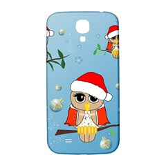 Funny, Cute Christmas Owls With Snowflakes Samsung Galaxy S4 I9500/I9505  Hardshell Back Case