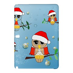 Funny, Cute Christmas Owls With Snowflakes Samsung Galaxy Tab Pro 10.1 Hardshell Case