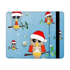 Funny, Cute Christmas Owls With Snowflakes Samsung Galaxy Tab Pro 8.4  Flip Case