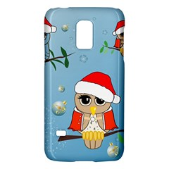 Funny, Cute Christmas Owls With Snowflakes Galaxy S5 Mini