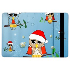 Funny, Cute Christmas Owls With Snowflakes Ipad Air 2 Flip