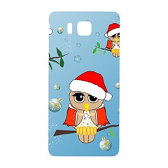 Funny, Cute Christmas Owls With Snowflakes Samsung Galaxy Alpha Hardshell Back Case