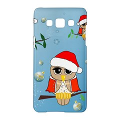 Funny, Cute Christmas Owls With Snowflakes Samsung Galaxy A5 Hardshell Case