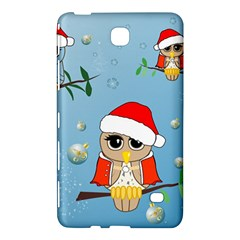 Funny, Cute Christmas Owls With Snowflakes Samsung Galaxy Tab 4 (7 ) Hardshell Case