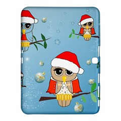 Funny, Cute Christmas Owls With Snowflakes Samsung Galaxy Tab 4 (10 1 ) Hardshell Case