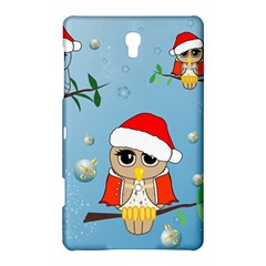 Funny, Cute Christmas Owls With Snowflakes Samsung Galaxy Tab S (8.4 ) Hardshell Case