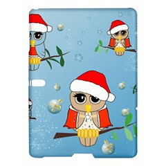 Funny, Cute Christmas Owls With Snowflakes Samsung Galaxy Tab S (10.5 ) Hardshell Case