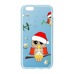 Funny, Cute Christmas Owls With Snowflakes Apple Seamless iPhone 6 Case (Color)