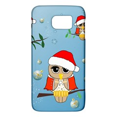 Funny, Cute Christmas Owls With Snowflakes Galaxy S6