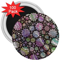 Sweet Allover 3d Flowers 3  Magnets (100 pack)