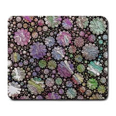 Sweet Allover 3d Flowers Large Mousepads