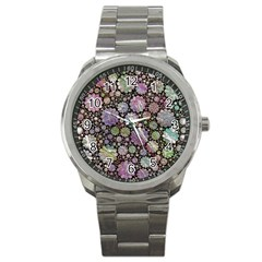 Sweet Allover 3d Flowers Sport Metal Watches