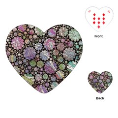 Sweet Allover 3d Flowers Playing Cards (Heart)